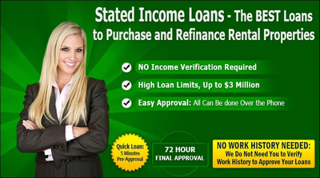 Lender Stated Income Mortgage Loans